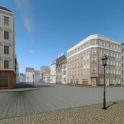 Escena de la ciudad de residencia de Berlín 001 modelo 3d