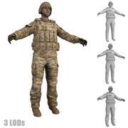 Żołnierz 1 LODs 3d model