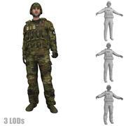 Soldier 3 LOD