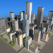 Real Time City Block 03 3d model