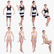 Kompletny zestaw dla kobiet 3d model
