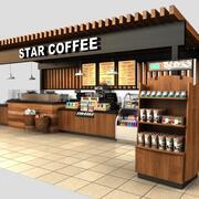 Quiosco de café modelo 3d