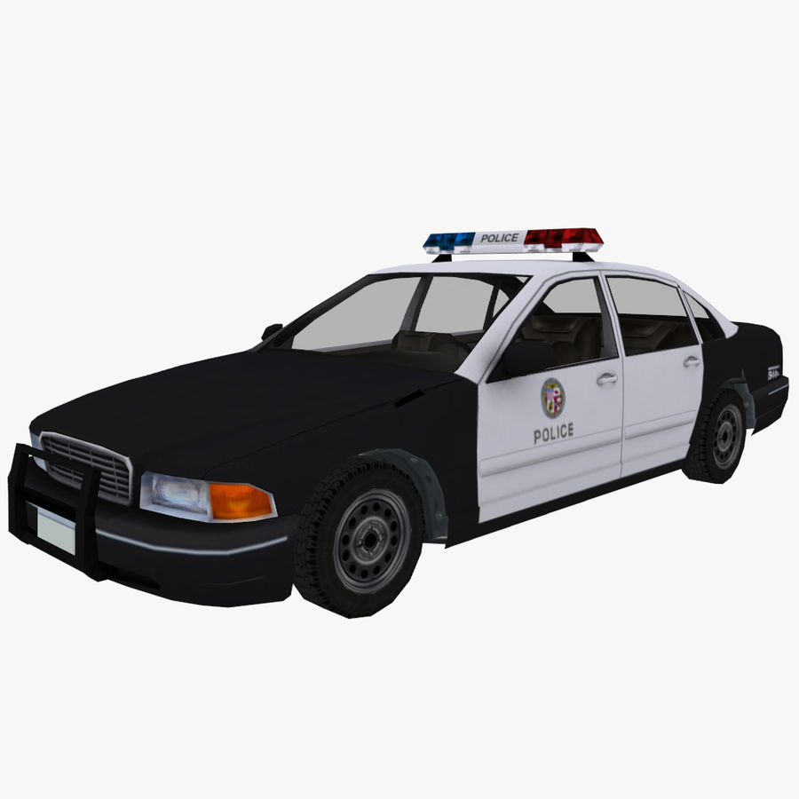 Macchina della polizia low poly royalty-free 3d model - Preview no. 1