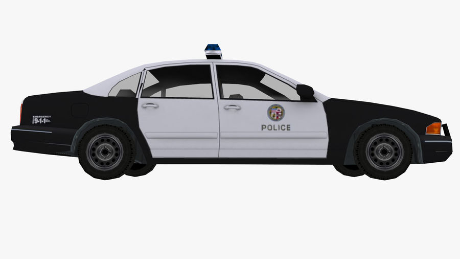 Macchina della polizia low poly royalty-free 3d model - Preview no. 5