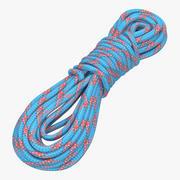 Rock Climbing Rope Blue 3d model