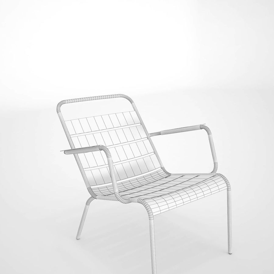 Luxembourg chair royalty-free 3d model - Preview no. 10