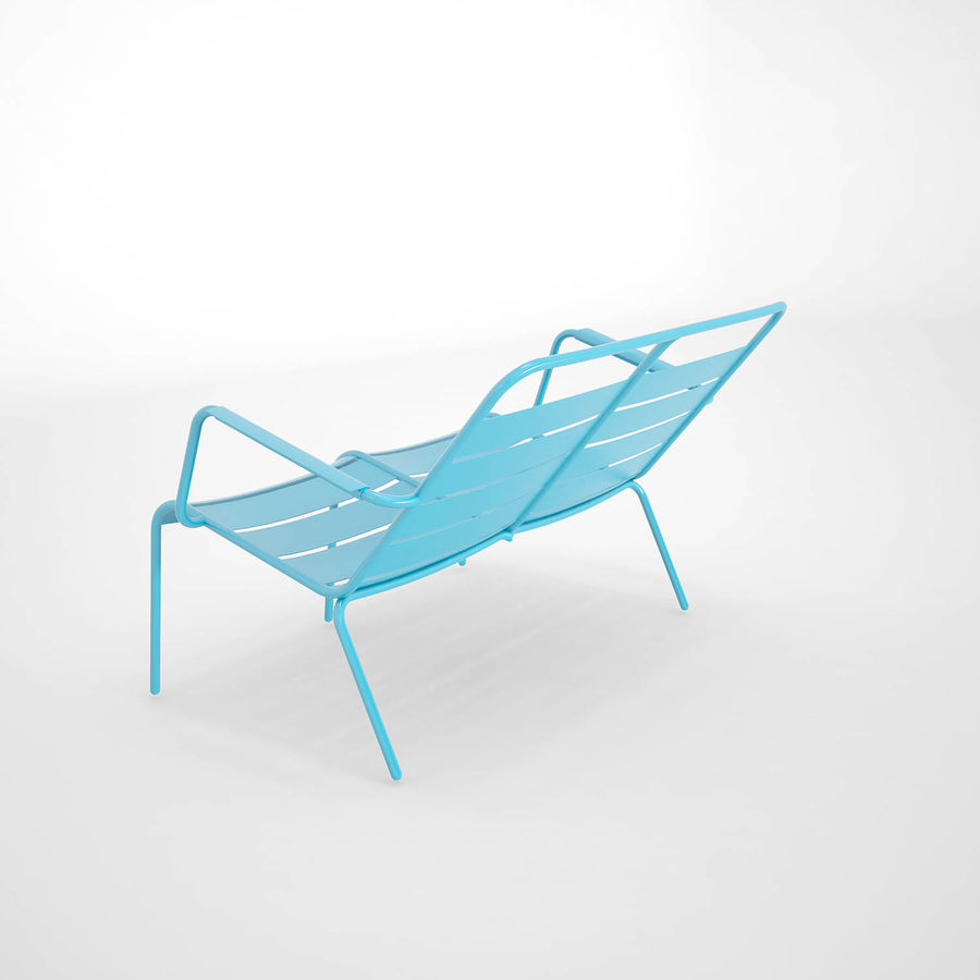 Luxembourg chair royalty-free 3d model - Preview no. 7