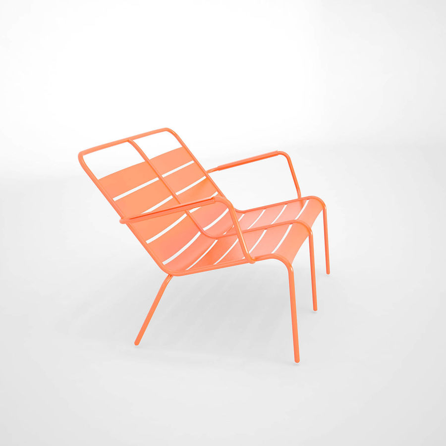 Luxembourg chair royalty-free 3d model - Preview no. 6
