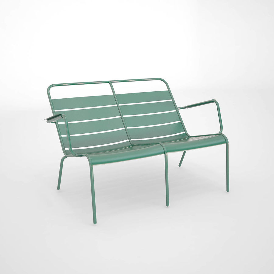 Luxembourg chair royalty-free 3d model - Preview no. 5