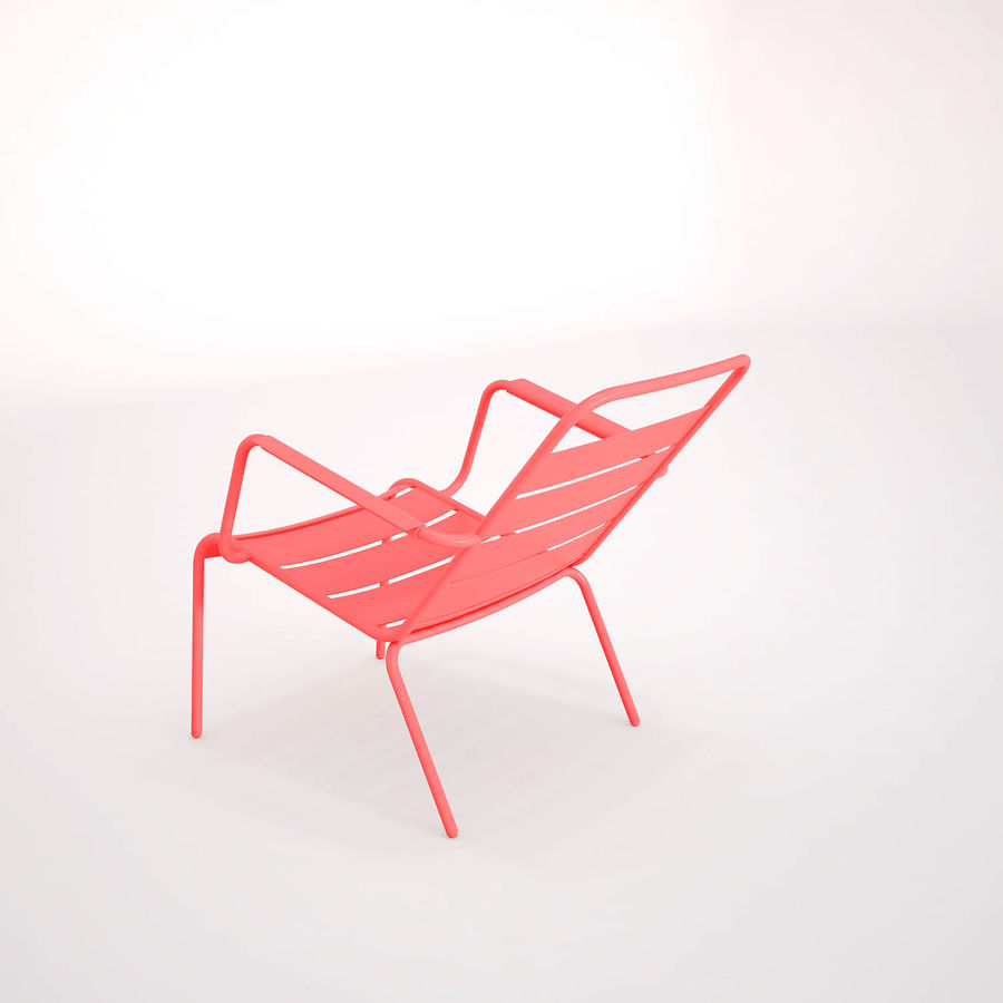 Luxembourg chair royalty-free 3d model - Preview no. 4
