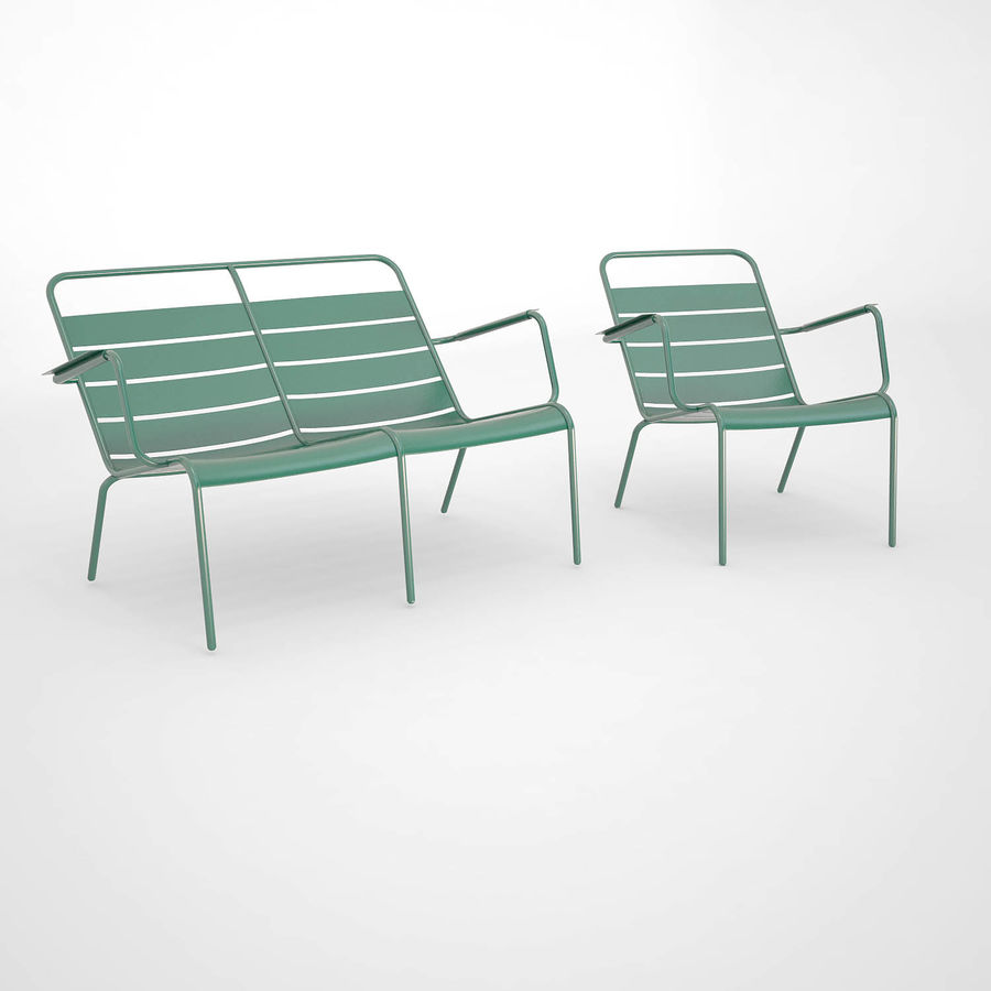 Luxembourg chair royalty-free 3d model - Preview no. 1