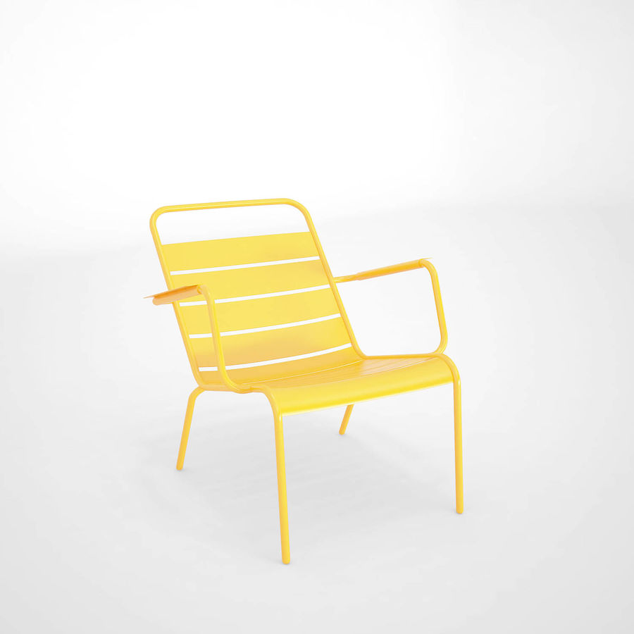 Luxembourg chair royalty-free 3d model - Preview no. 2