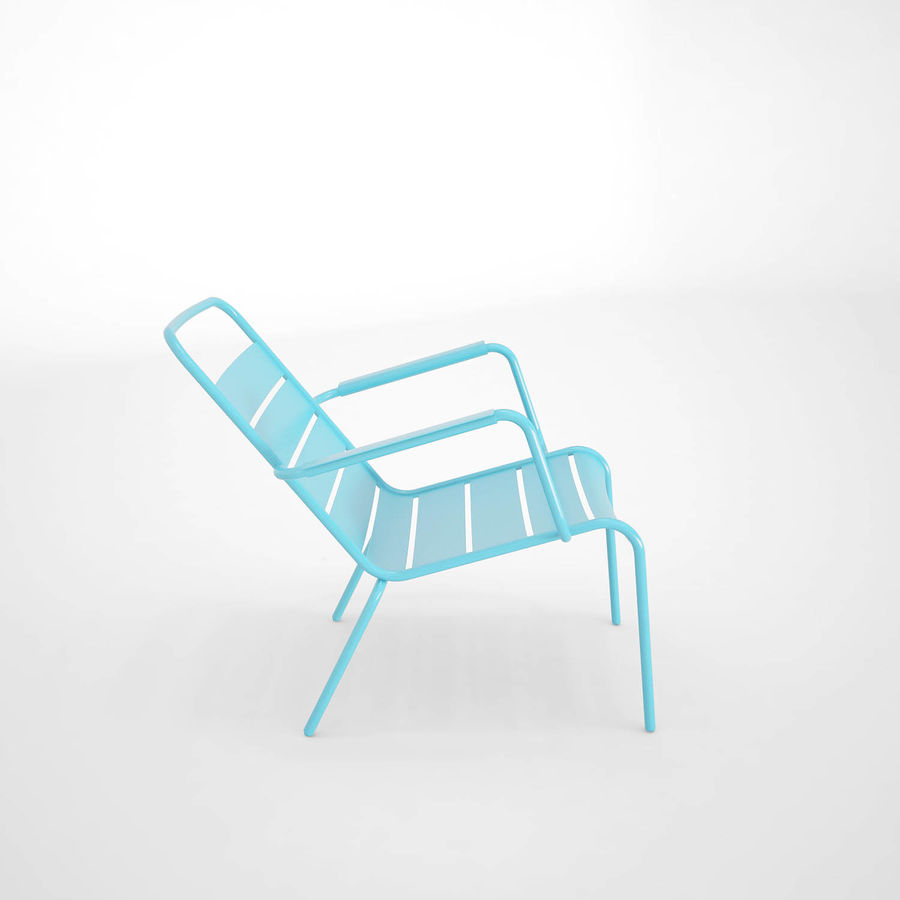 Luxembourg chair royalty-free 3d model - Preview no. 3