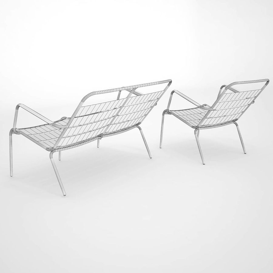 Luxembourg chair royalty-free 3d model - Preview no. 9