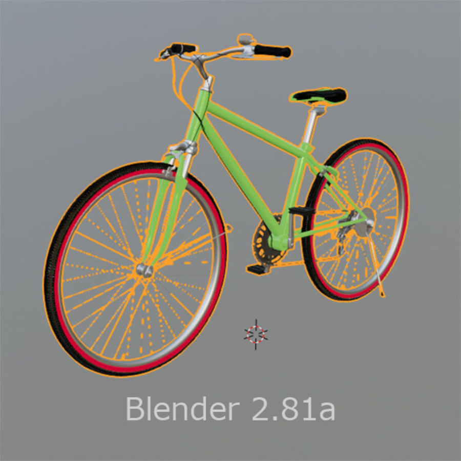 Cross Bike 01 royalty-free 3d model - Preview no. 5