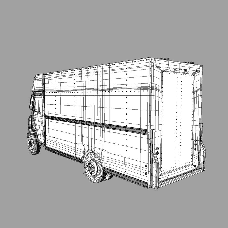 Delivery Van royalty-free 3d model - Preview no. 4