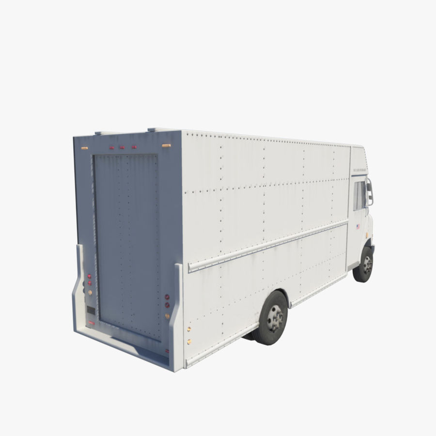 Delivery Van royalty-free 3d model - Preview no. 2