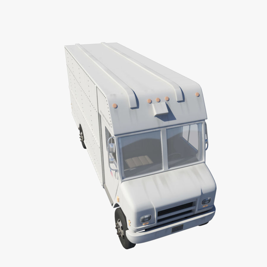 Delivery Van royalty-free 3d model - Preview no. 1