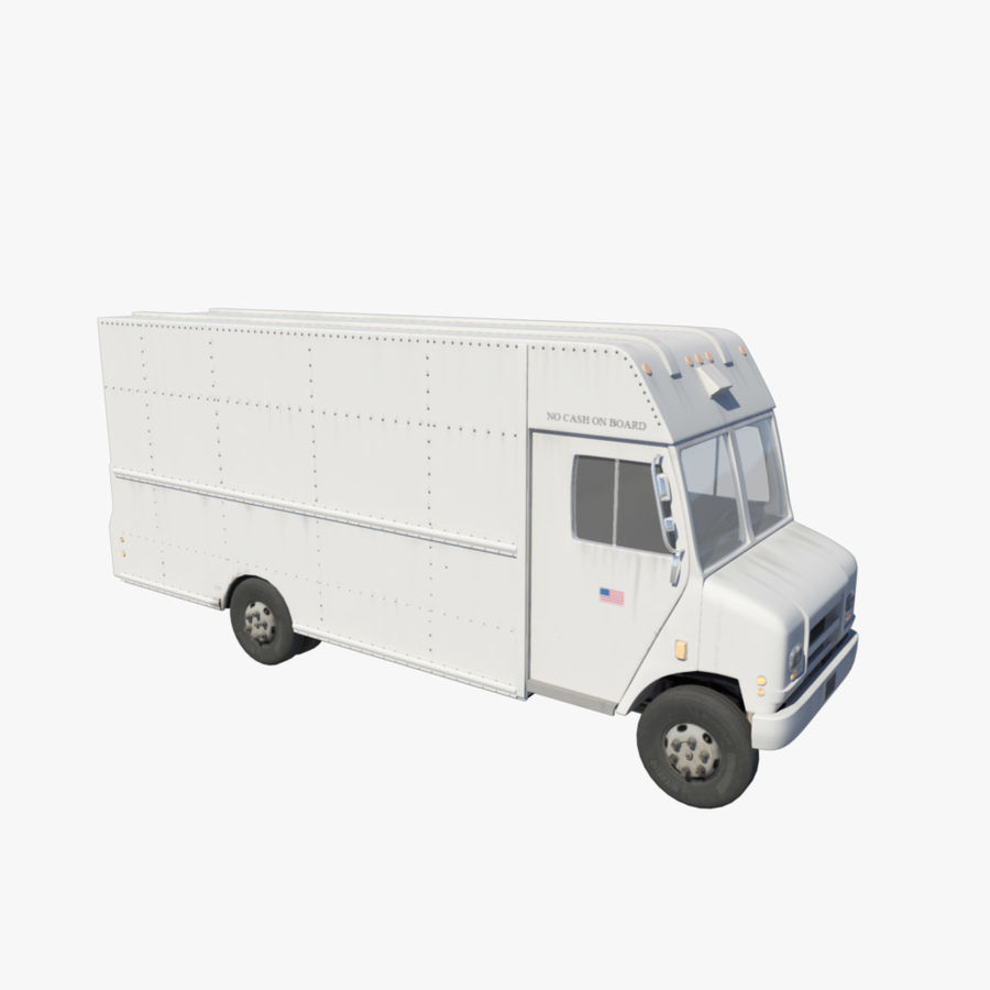 Delivery Van royalty-free 3d model - Preview no. 3
