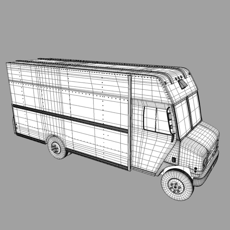 Delivery Van royalty-free 3d model - Preview no. 5
