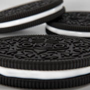 Oreo Cookie with a Glass of Milk 3d model