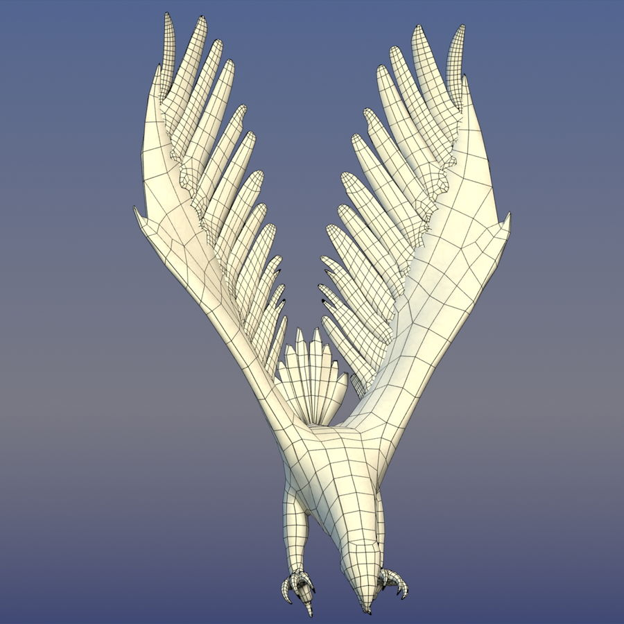 Eagle Ornamental royalty-free 3d model - Preview no. 7