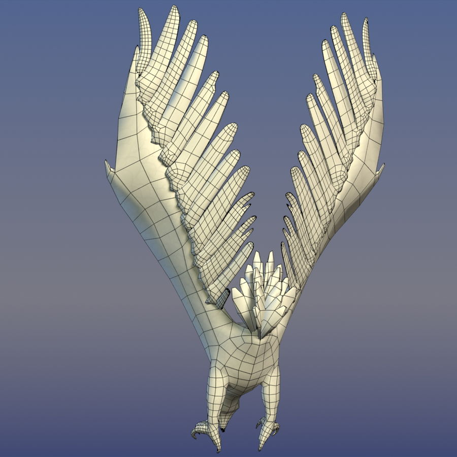 Eagle Ornamental royalty-free 3d model - Preview no. 8