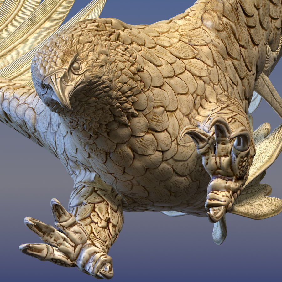 Eagle Ornamental royalty-free 3d model - Preview no. 5
