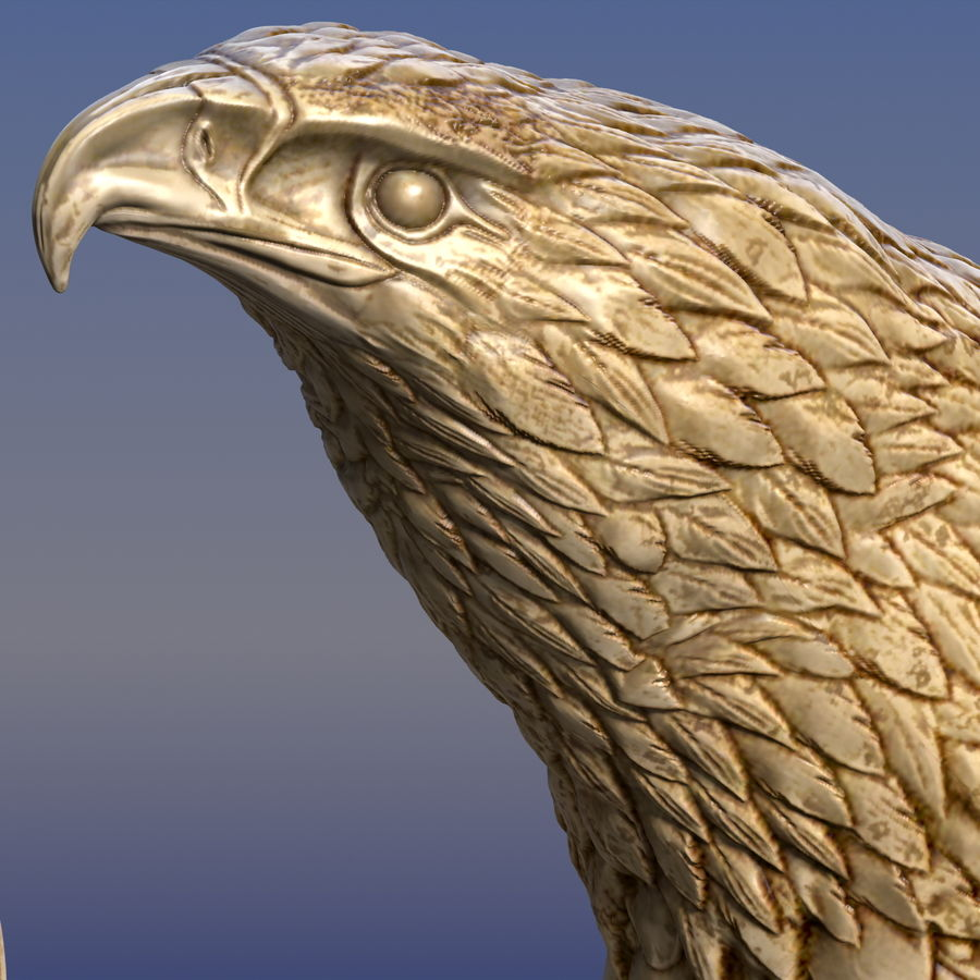 Eagle Ornamental royalty-free 3d model - Preview no. 3