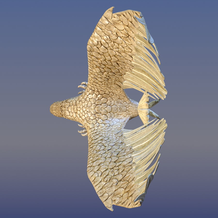 Eagle Ornamental royalty-free 3d model - Preview no. 6