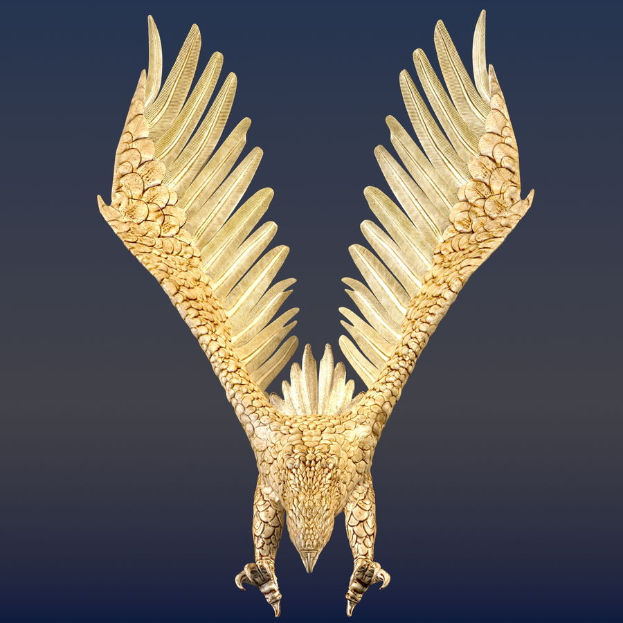 Eagle Ornamental royalty-free 3d model - Preview no. 2
