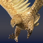 Aquila ornamentale 3d model