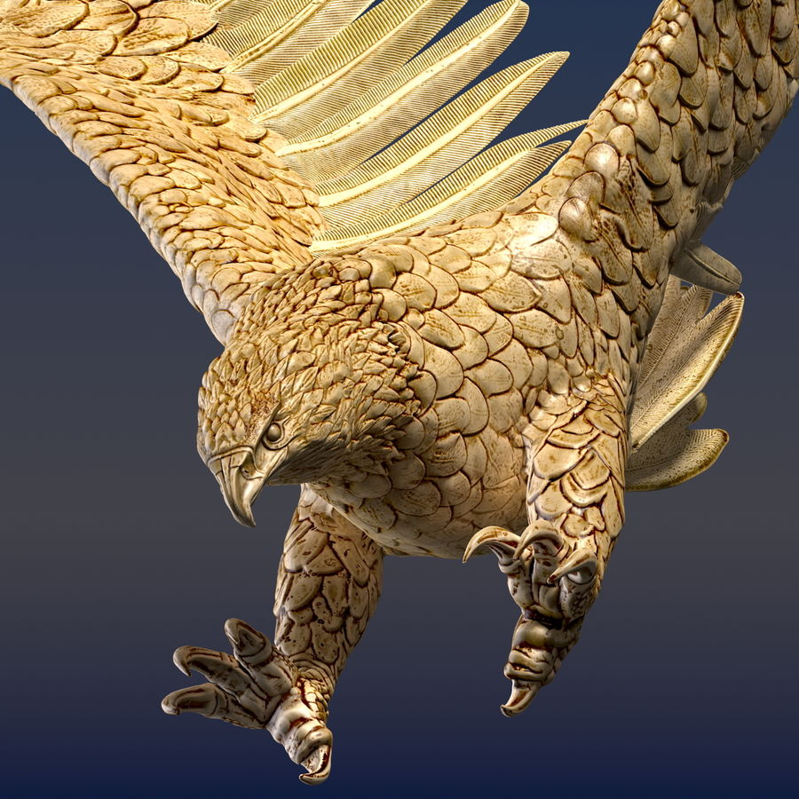 Eagle Ornamental royalty-free 3d model - Preview no. 1