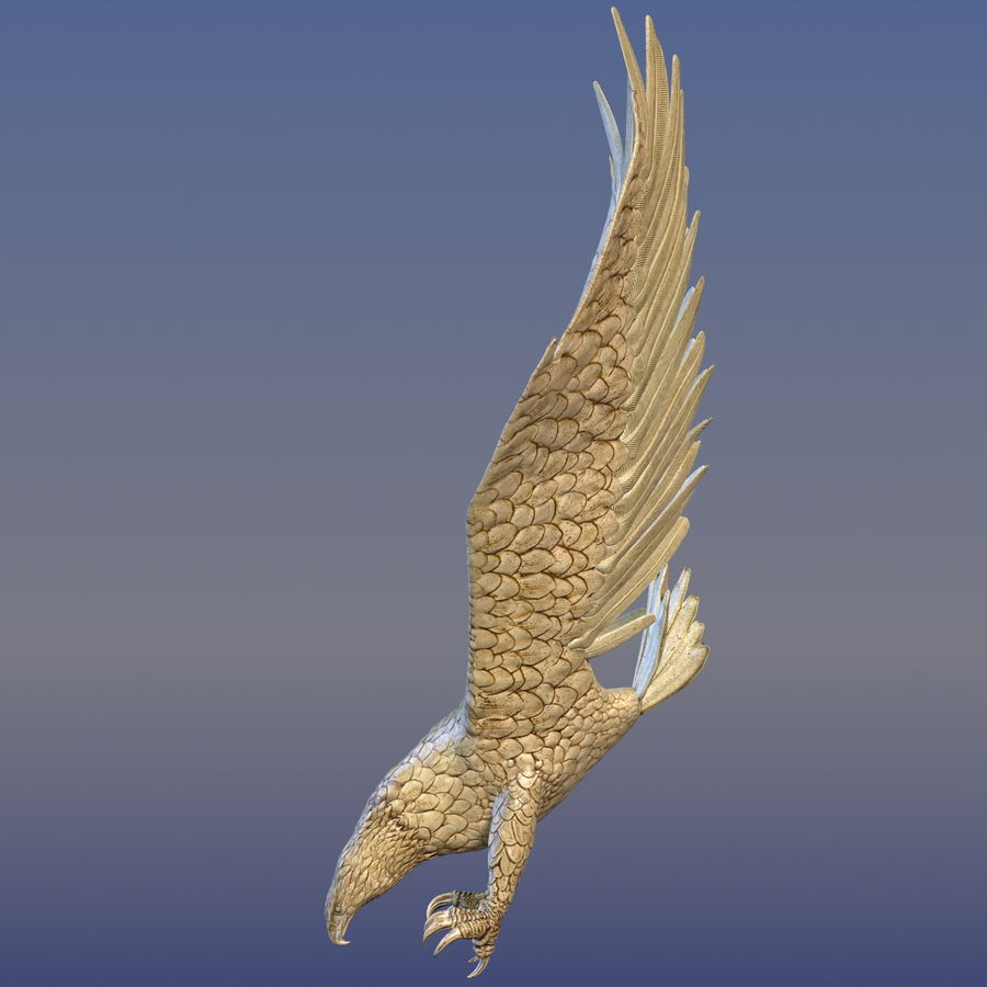 Eagle Ornamental royalty-free 3d model - Preview no. 4