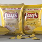Lays Pack and Chips 3d model