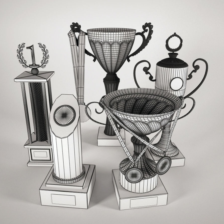 Kupa Bardak - Ödül Seti royalty-free 3d model - Preview no. 3