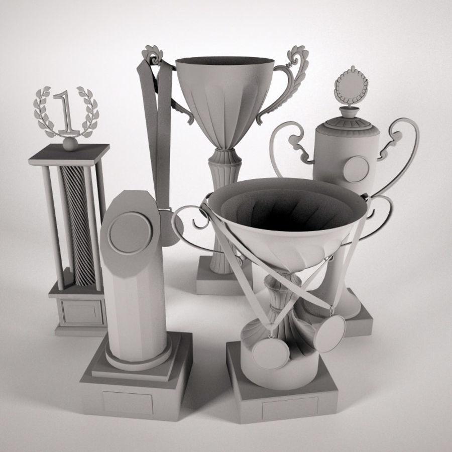 Kupa Bardak - Ödül Seti royalty-free 3d model - Preview no. 4