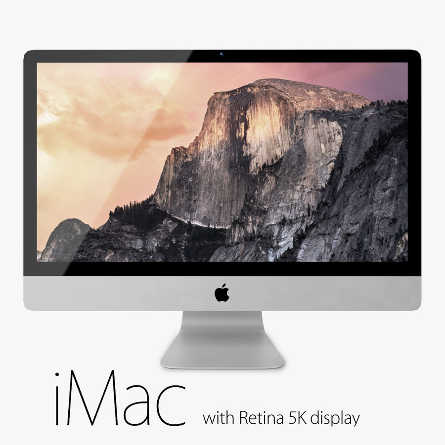 Apple iMac With Retina 5K Display royalty-free 3d model - Preview no. 1