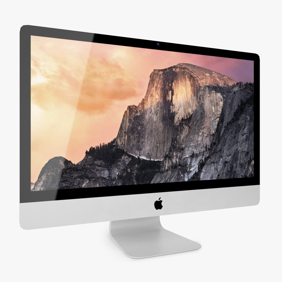 Apple iMac With Retina 5K Display royalty-free 3d model - Preview no. 2