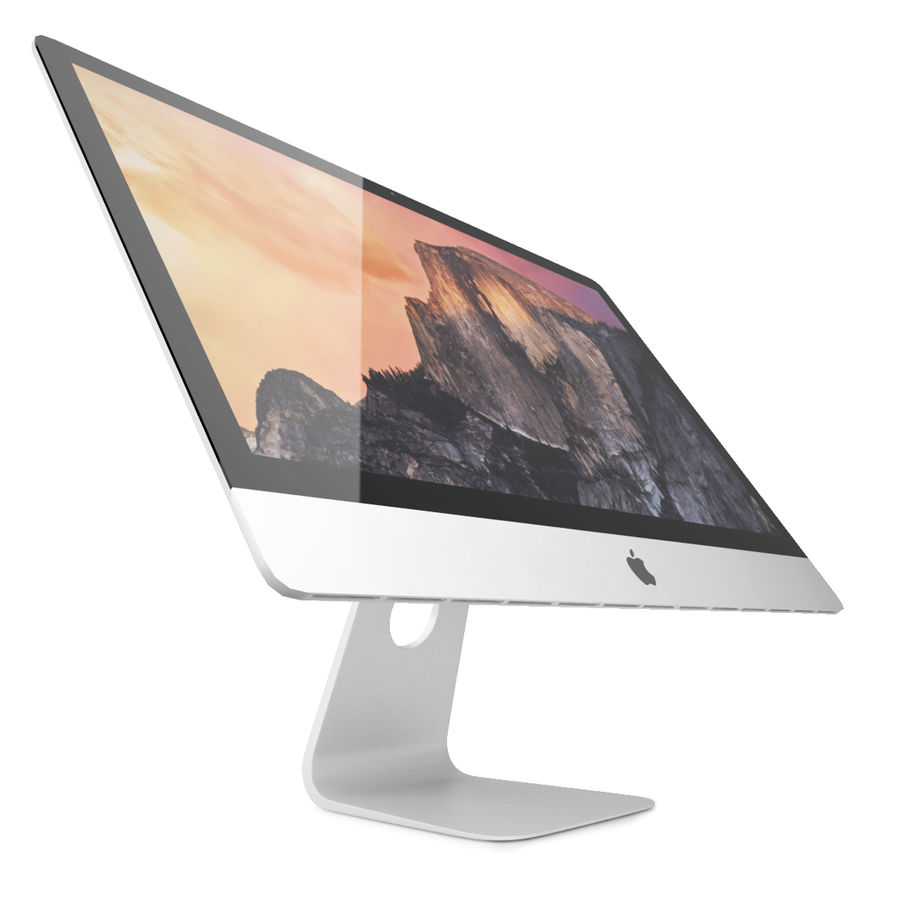 Apple iMac With Retina 5K Display royalty-free 3d model - Preview no. 3