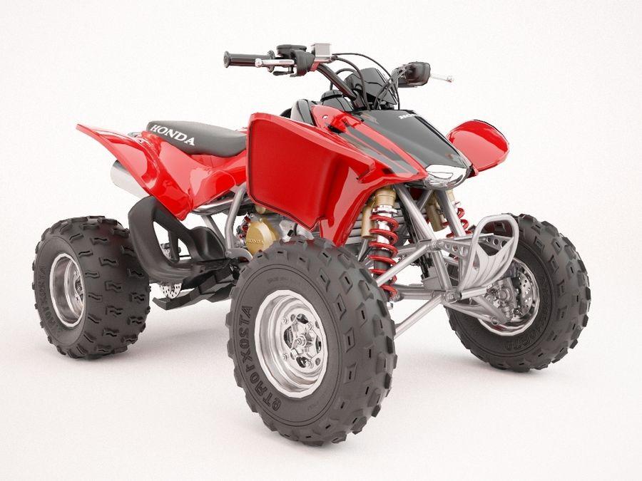 ATV Honda TRX450R royalty-free 3d model - Preview no. 1