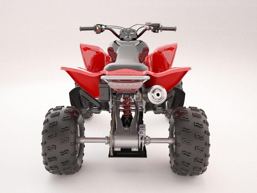ATV Honda TRX450R royalty-free 3d model - Preview no. 3