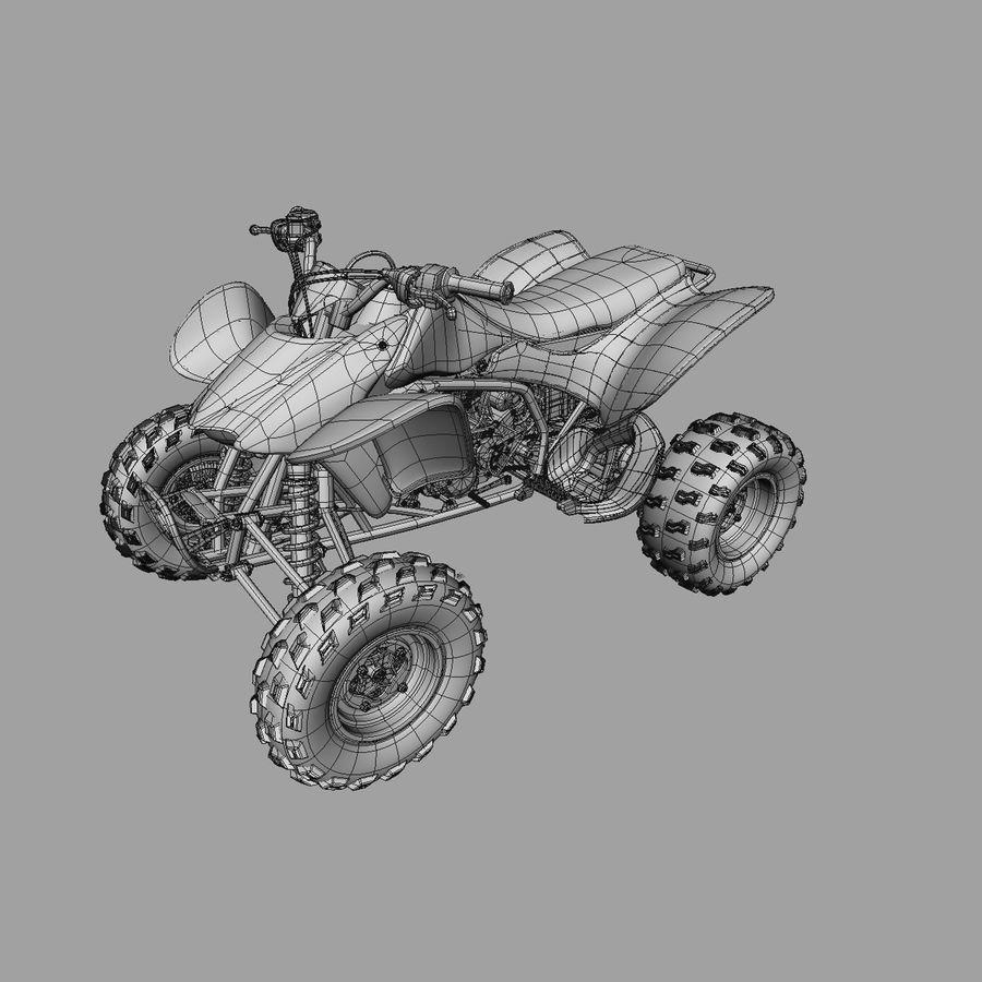 ATV Honda TRX450R royalty-free 3d model - Preview no. 5