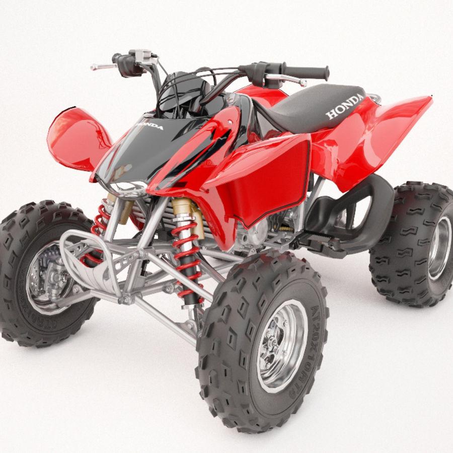 ATV Honda TRX450R royalty-free 3d model - Preview no. 4