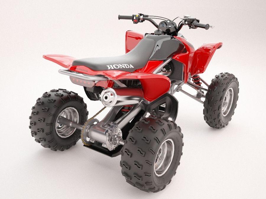 ATV Honda TRX450R royalty-free 3d model - Preview no. 2
