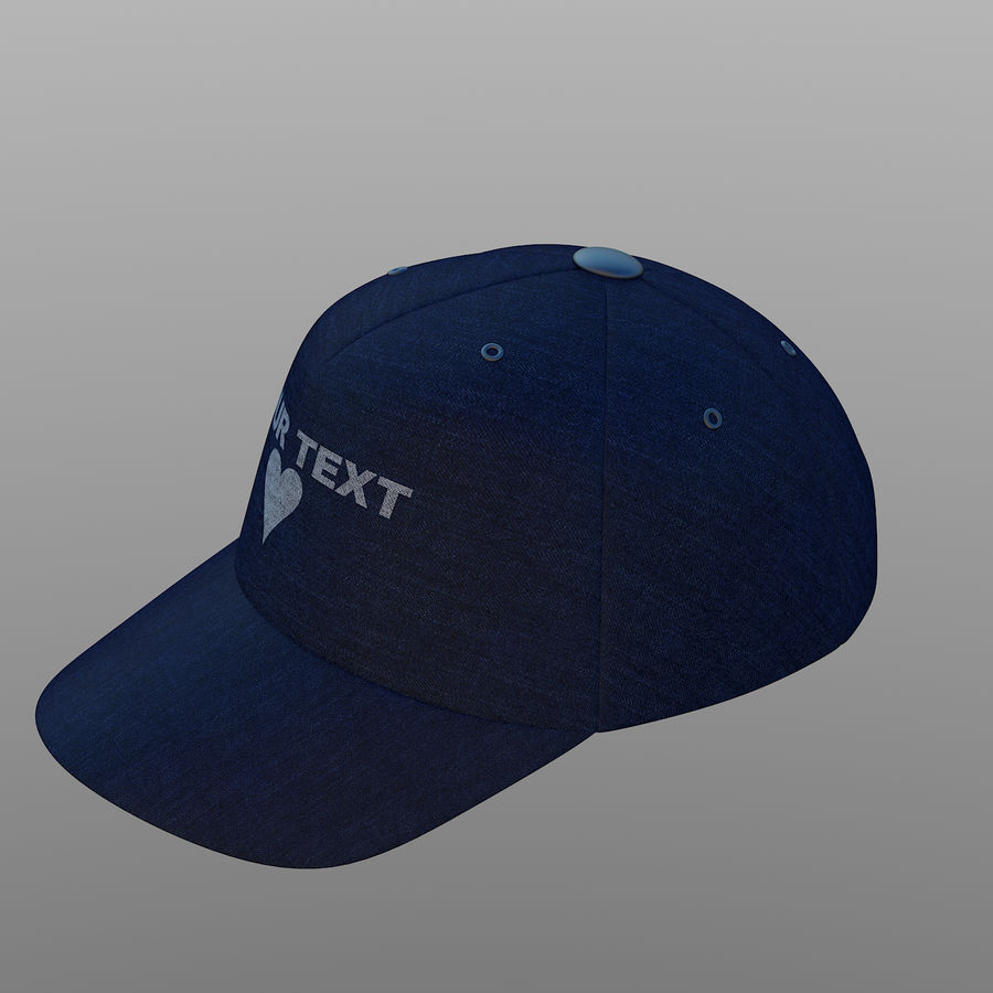Cap royalty-free 3d model - Preview no. 4