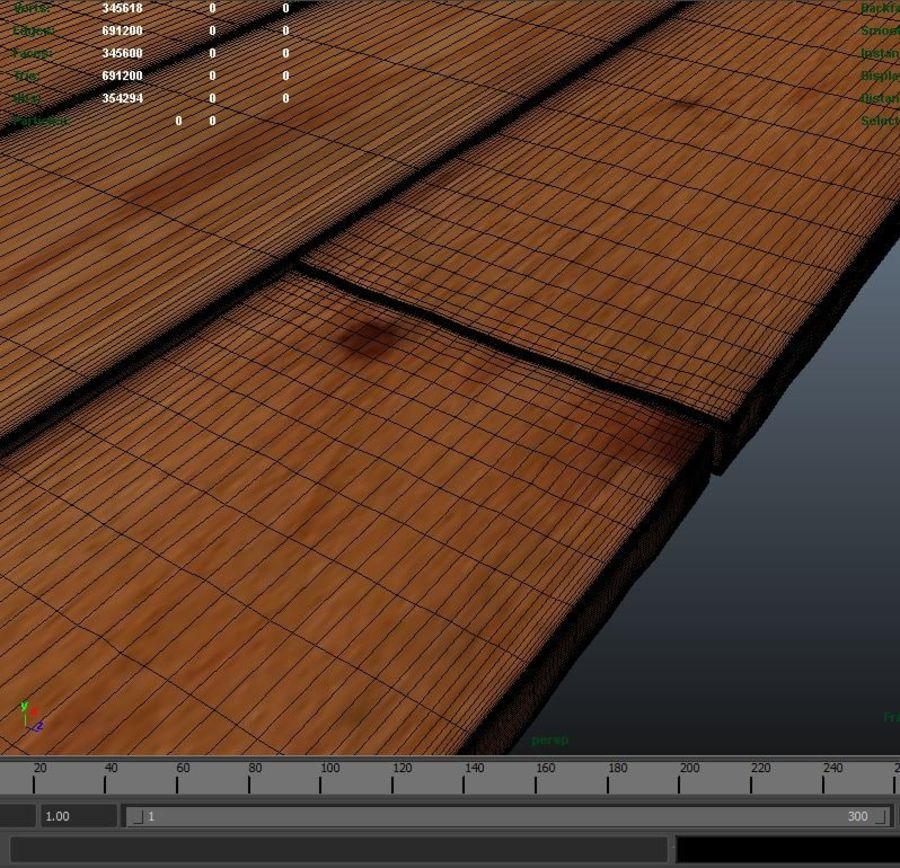 Placas de madeira royalty-free 3d model - Preview no. 5