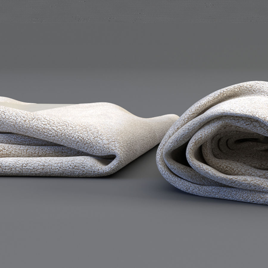 Rolled towel royalty-free 3d model - Preview no. 2