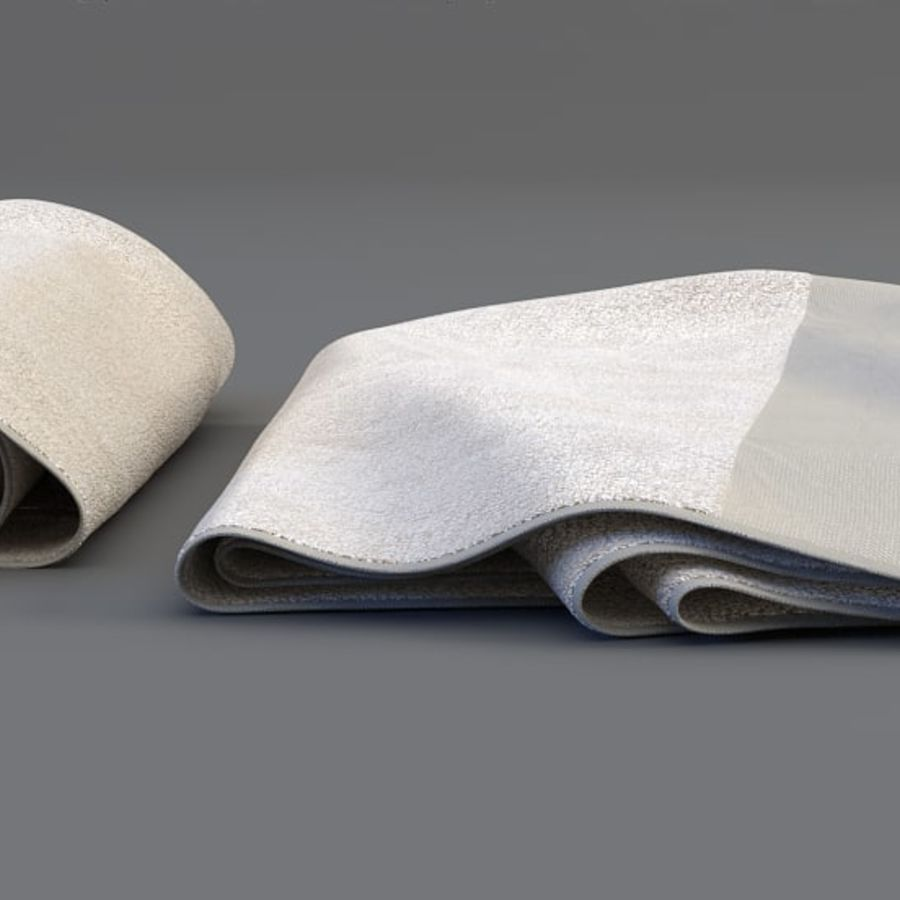 Rolled towel royalty-free 3d model - Preview no. 3