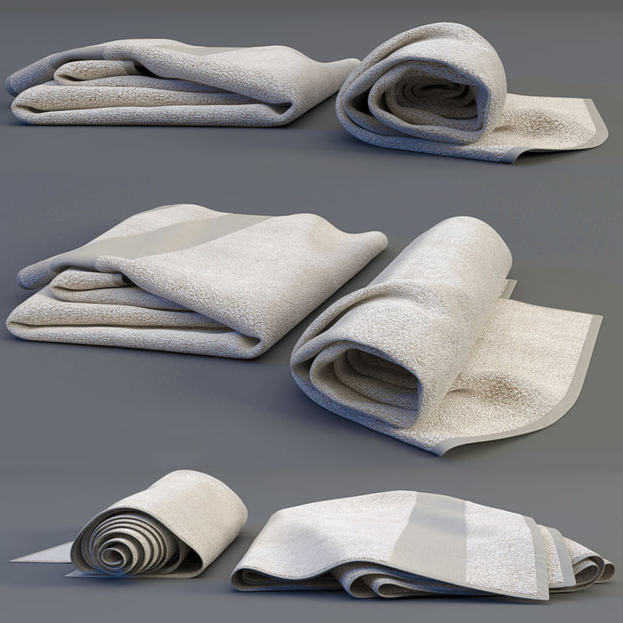 Rolled towel royalty-free 3d model - Preview no. 1
